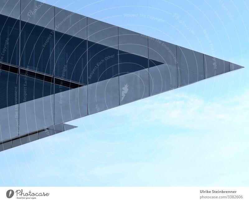 Spitze Ecke eines modernen Gebäudes: Dockland im Hamburger Hafen spitz richtungsweisend Fenster Metall Hafenstadt Sehenswürdigkeit Bauwerk außergewöhnlich
