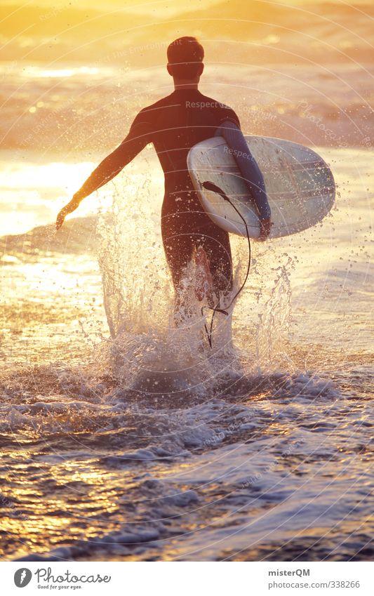1500. Lifestyle elegant Stil exotisch Freizeit & Hobby Kunst ästhetisch Zufriedenheit Fitness sportlich Extremsport Surfen Surfer Surfbrett Surfschule Gold