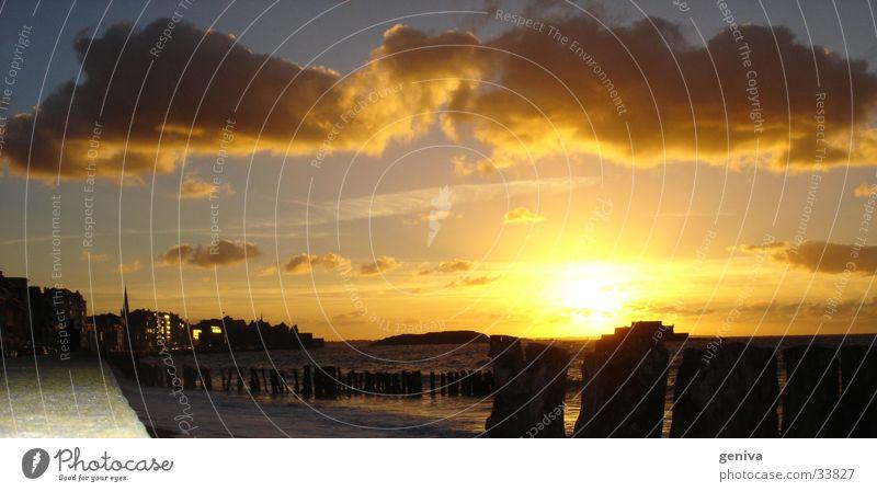 Sonne über St.Malo Sommer Wolken Europa Frankreich Bretagne Staint-Malo