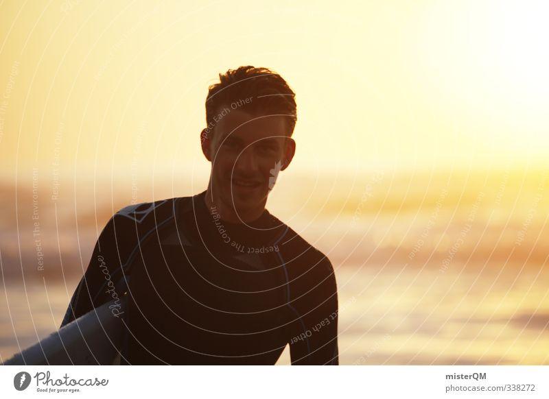 surfer dude. Lifestyle elegant Stil Design exotisch Freude Glück Freizeit & Hobby 18-30 Jahre Jugendliche Erwachsene Kunst ästhetisch Zufriedenheit Surfen