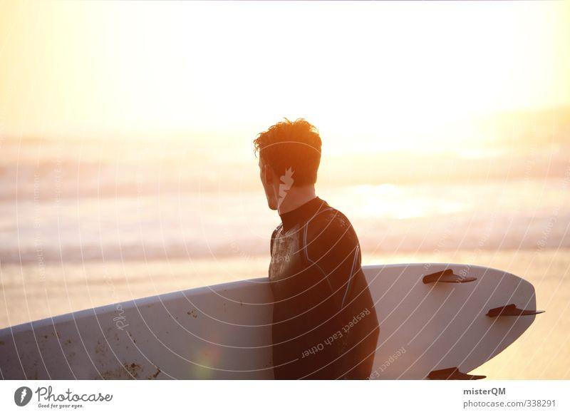 Meerblick II Mann Erholung Junger Mann Sport Erotik Stil Kunst maskulin Wellen Freizeit & Hobby elegant Zufriedenheit Lifestyle modern ästhetisch