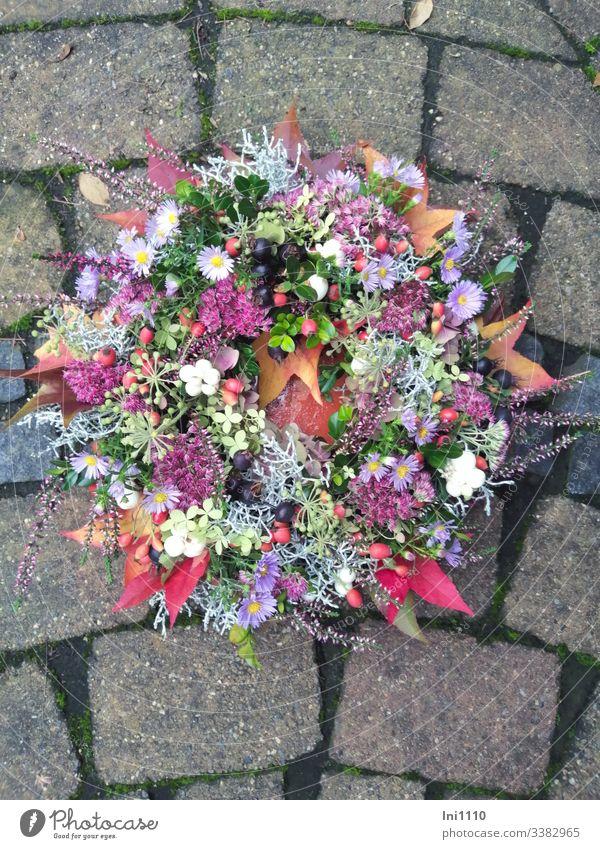 Herbstkranz Natur Pflanze Blume Freude Stein Freizeit & Hobby Dekoration & Verzierung Geschenk Hochzeit Veranstaltung Basteln herbstlich Handarbeit