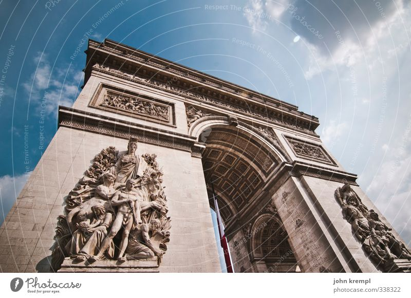 Gleitzeit, Frechheit, Bequemlichkeit! Paris Frankreich Hauptstadt Bauwerk Gebäude Architektur Tor Sehenswürdigkeit Wahrzeichen Arc de Triomphe gigantisch