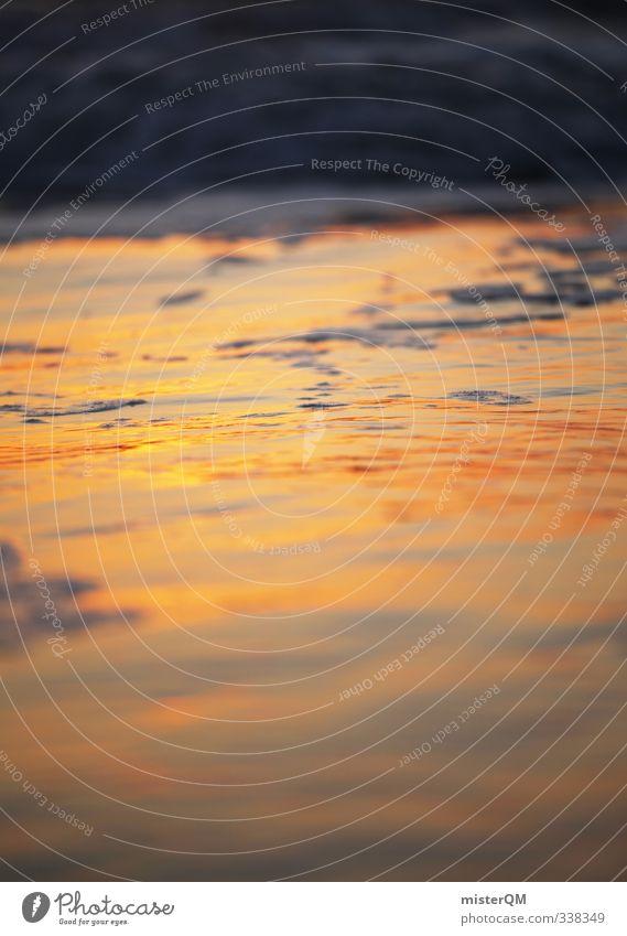 Golden Survace. Kunst ästhetisch Zufriedenheit ruhig Idylle Meer Brandung Küste Sommerurlaub Ferien & Urlaub & Reisen Urlaubsfoto Urlaubsort Urlaubsstimmung