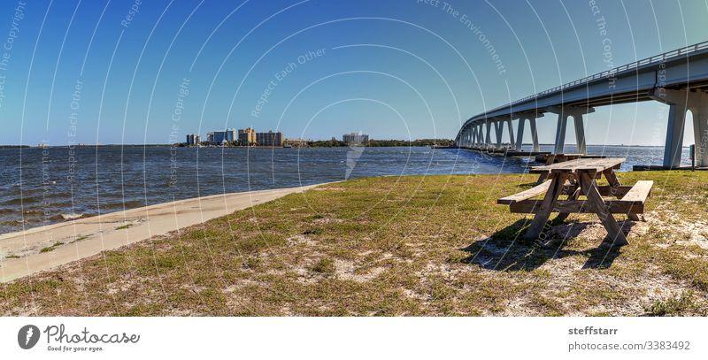 Sanibel Causeway-Brücke, die den Causeway Islands Park verbindet Dammweg reisen Causeway-Inseln Park Meer MEER Sanibel Island Sanibel Strand Landschaft Natur