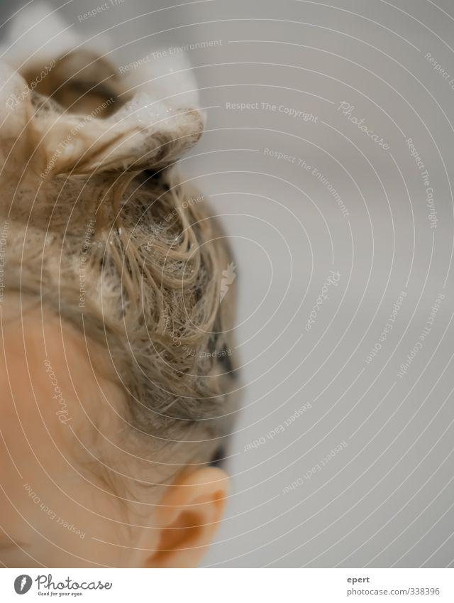 Schaumkrönchen Kind schön Freude lustig Haare & Frisuren Schwimmen & Baden Kopf Kindheit nass Fröhlichkeit Badewanne Idee Ohr Körperpflege Waschen