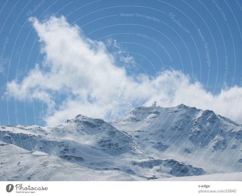 Val Thornes Sonne Wolken Schnee Berge u. Gebirge Val Thorens