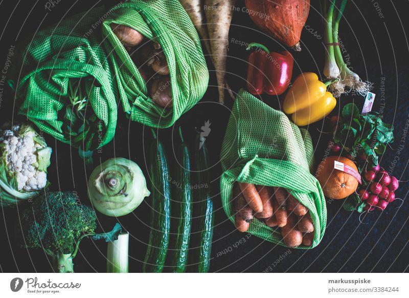 Baumwolle Netzbeutel frisches Bio Gemüse Biografie Ackerbau Blütezeit züchten Zucht Brokkoli Kohlrabi Möhre kontrollierte Landwirtschaft