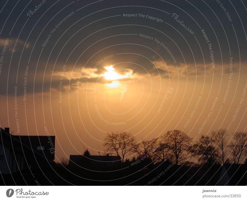 Sunset Wolken Sonnenuntergang Abendsonne Natur