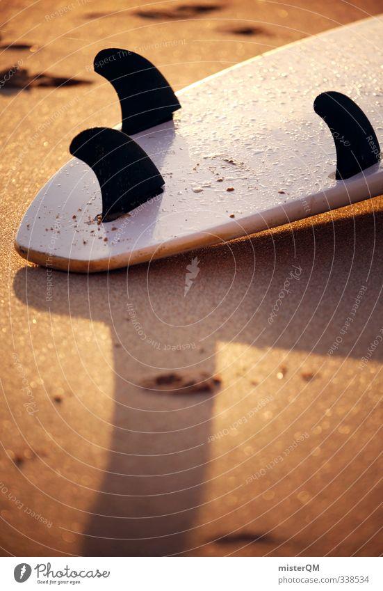 tail shape. Ferien & Urlaub & Reisen Erholung Strand Sand Kunst Idylle Zufriedenheit ästhetisch Holzbrett Surfen Sandstrand Surfbrett Strandleben Tailslide Surfschule