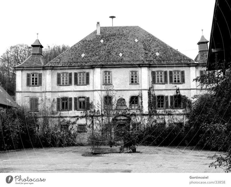 Das Schloss Baum Pflanze Haus Wand Stil Fenster Garten Mauer Gebäude Feste & Feiern Architektur Tür elegant Fassade Sträucher