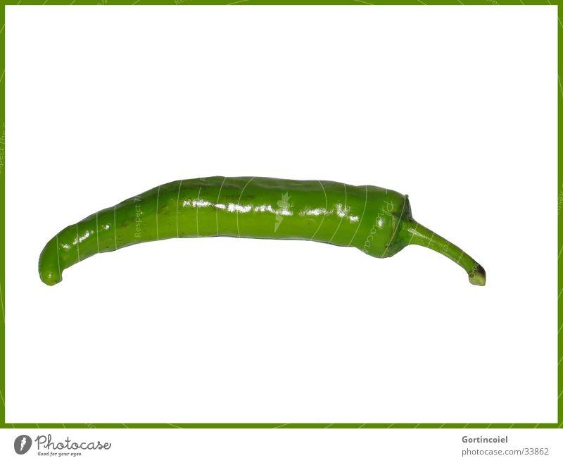 Scharfe Sache Lebensmittel Gemüse Ernährung Mittagessen Bioprodukte Vegetarische Ernährung Peperoni Paprika Chili Gesundheit frisch grün Mahlzeit Rohkost Ernte