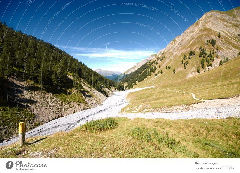 Nationalpark Natur blau Baum Landschaft Wald Umwelt Berge u. Gebirge Wiese Felsen wandern Alpen Schweiz Tal Naturliebe