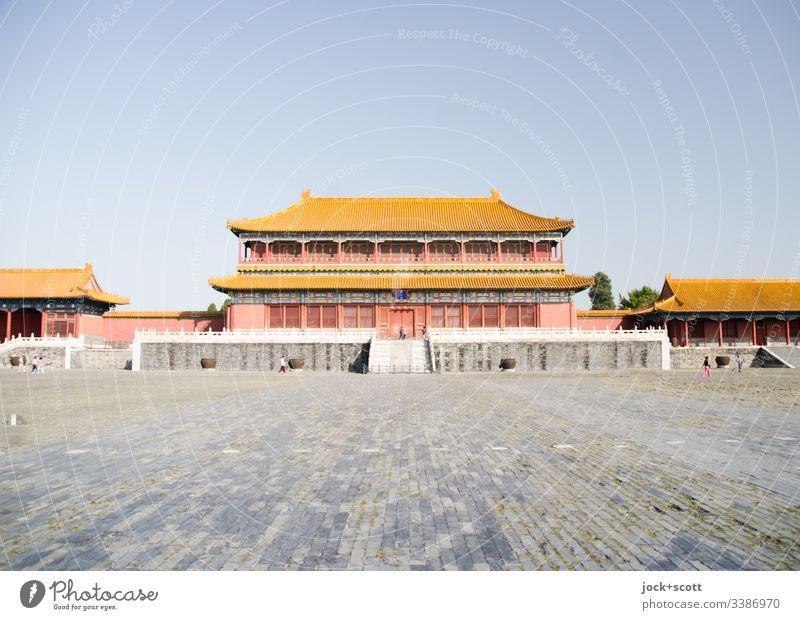 Residenz eines Kaisers Palast Platz Sehenswürdigkeit Bauwerk Pavillon Wahrzeichen Weltkulturerbe historisch kaiserlich Chinesisch Altstadt Weitwinkel