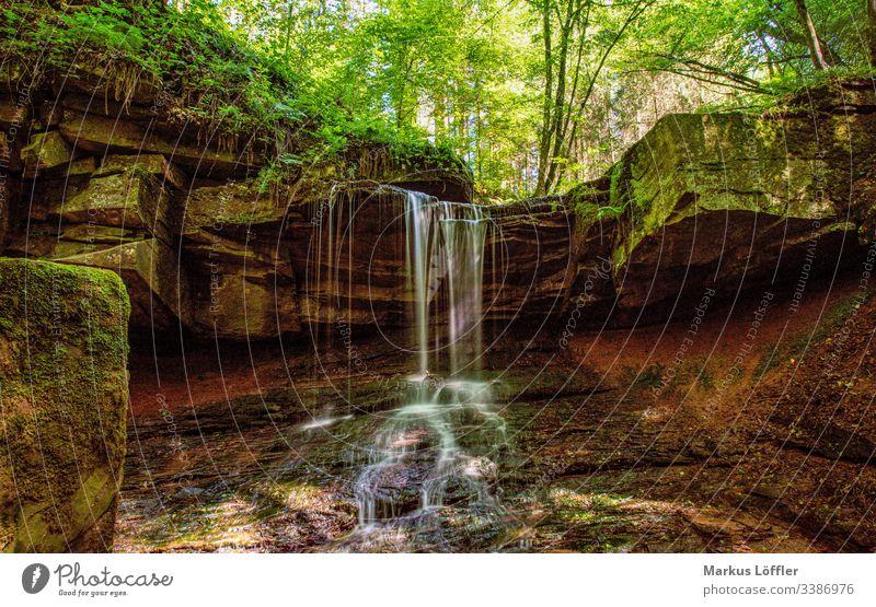 kleiner Wasserfall im Wald Natur Landschaft Wald Wälder