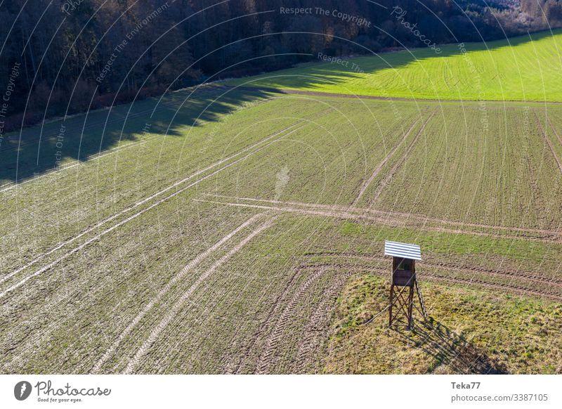 #Der Hochsitz von oben Natur Jagd hoch Ackerbau Feld
