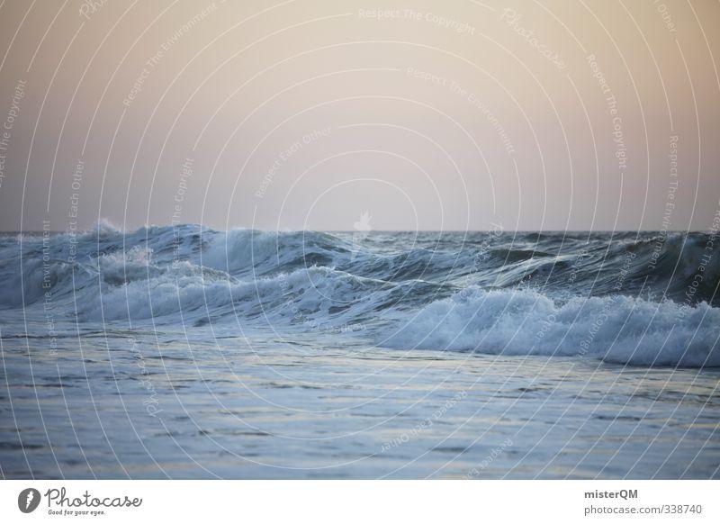 wavenoon. Sommer Meer Kunst Wellen Zufriedenheit ästhetisch Sommerurlaub exotisch sommerlich Wellengang Meerwasser Wellenform Wellenschlag Wellenlinie