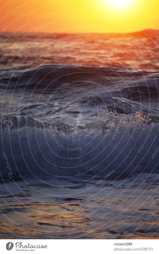 calm down. elegant Kunst ästhetisch Zufriedenheit Sonnenstrahlen Meer Meerwasser Meeresspiegel Brandung Wellen Wellengang Wellness Wellenform Wellenbruch