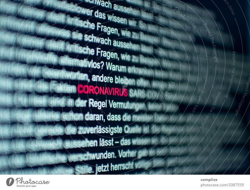 Coronavirus Computer Screen Text computer Virus sars corona Medizin Arzt ansteckungsgefahr anstecken Schutz Schutzmaske bildhintergrund Fragen Information
