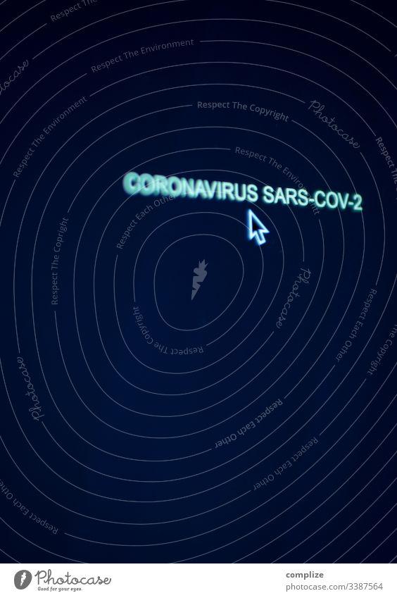 Coronavirus Computer Screen mit Cursor computer Virus sars corona Medizin Arzt ansteckungsgefahr anstecken Schutz Schutzmaske bildhintergrund Text Fragen