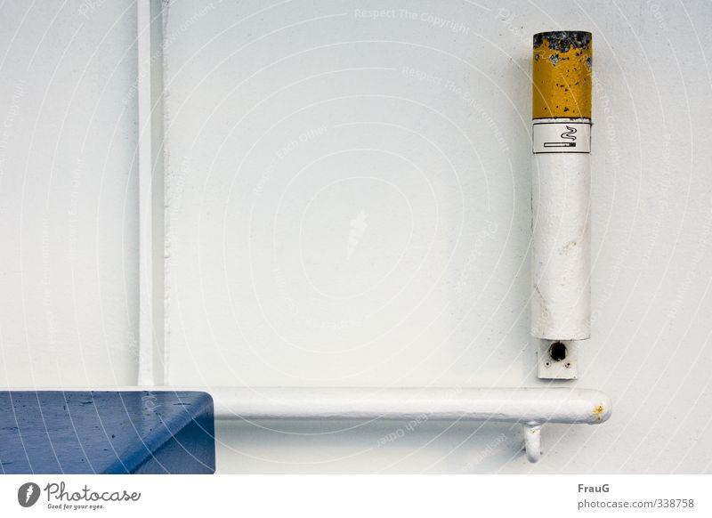 Aaaschenbecha Schifffahrt Fähre Wasserfahrzeug An Bord Metall Zigarette hängen außergewöhnlich groß rund blau gelb weiß Ordnungsliebe Aschenbecher für Raucher