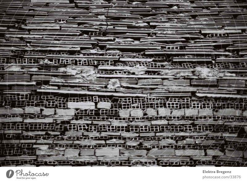 Mauer Architektur Detailaufnahme Schwarzweißfoto