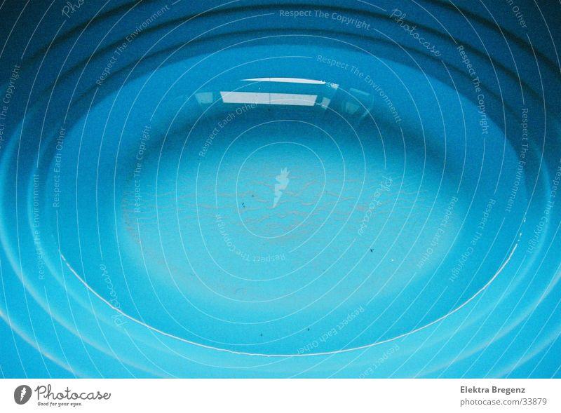 Wasserwanne abstrakt Oval Fototechnik Badewanne Detailaufnahme blau