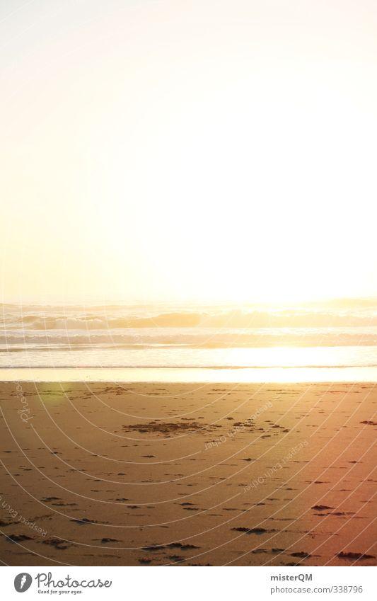 Sun. Ferien & Urlaub & Reisen Himmel (Jenseits) Sonne Meer Strand Kunst Freiheit hell Wellen Idylle ästhetisch Hoffnung Sehnsucht Sommerurlaub Sandstrand grell