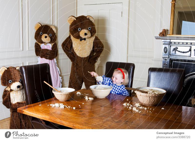 Goldlöckchen und die drei Bären 4 5 Jahre Schalen & Schüsseln Frühstück Kindheit Kinder Bekleidung Tracht Esszimmer Essen Märchen Frauen Fiktionaler Charakter