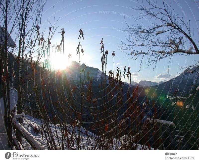 Sonnenaufgang Winter Schnee