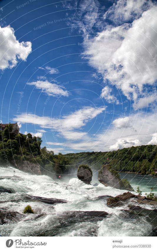 rein fall Himmel Natur Wasser Umwelt außergewöhnlich Fluss Wasserfall Rheinfall