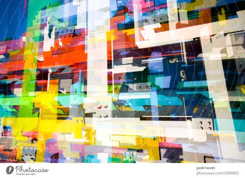 Formen und Farben Mischung Strukturen & Formen Muster abstrakt Experiment Pop-Art mehrfarbig Doppelbelichtung Surrealismus komplex Inspiration modern Skulptur