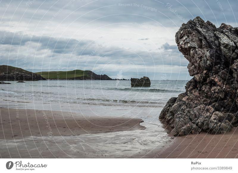Bucht in den schottischen highlands. Landschaft Küste Schottland scotland Steilküste England landscape Meer Nordsee Naturschutzgebiet Landschaftsschutzgebiet
