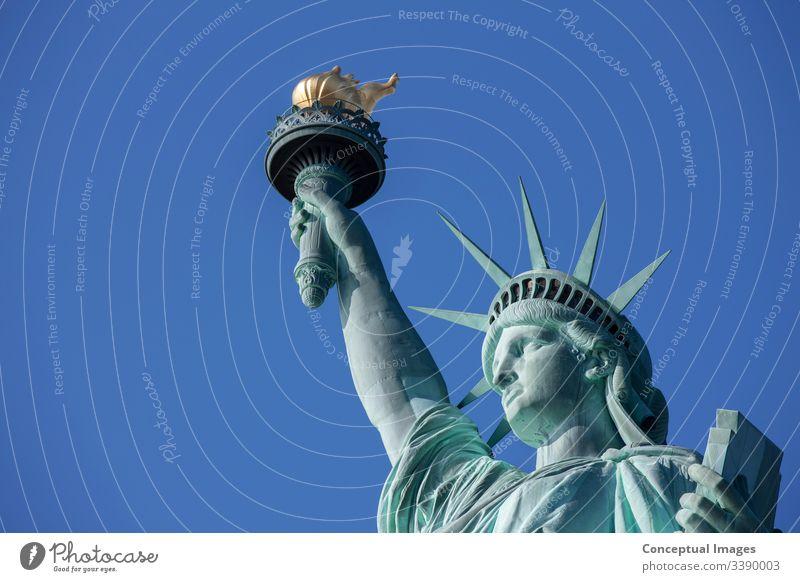 Freiheitsstatue, New York City, New York, USA amerika Amerikaner Großstadt berühmt Selbstständigkeit Dame Wahrzeichen Manhattan Denkmal neu nyc Statue Symbol