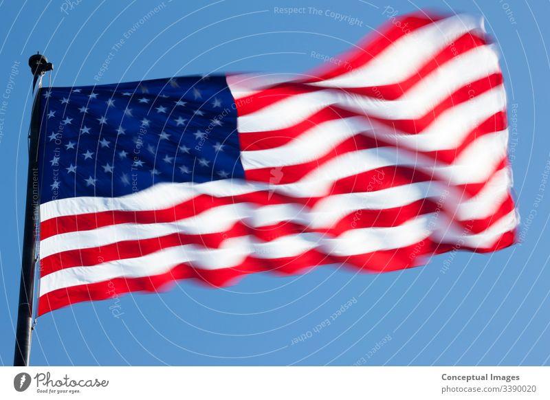 US-Flagge, die Flagge der Vereinigten Staaten von Amerika amerika Amerikaner Transparente blau Land Fahne Freiheit Nation national Patriotin patriotisch