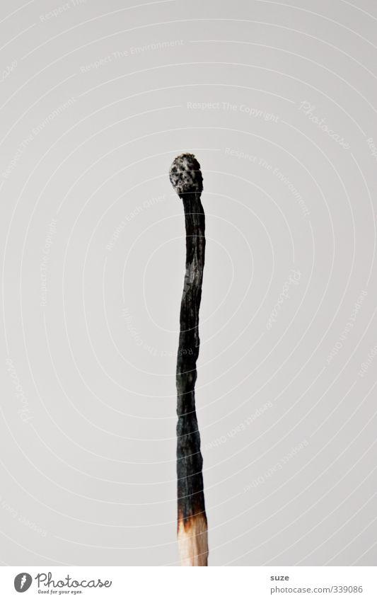 Brand eins Weihnachten & Advent Einsamkeit schwarz grau Holz Stil Feste & Feiern Freizeit & Hobby Lifestyle Brand Feuer Müdigkeit Stress Streichholz Erschöpfung Rest