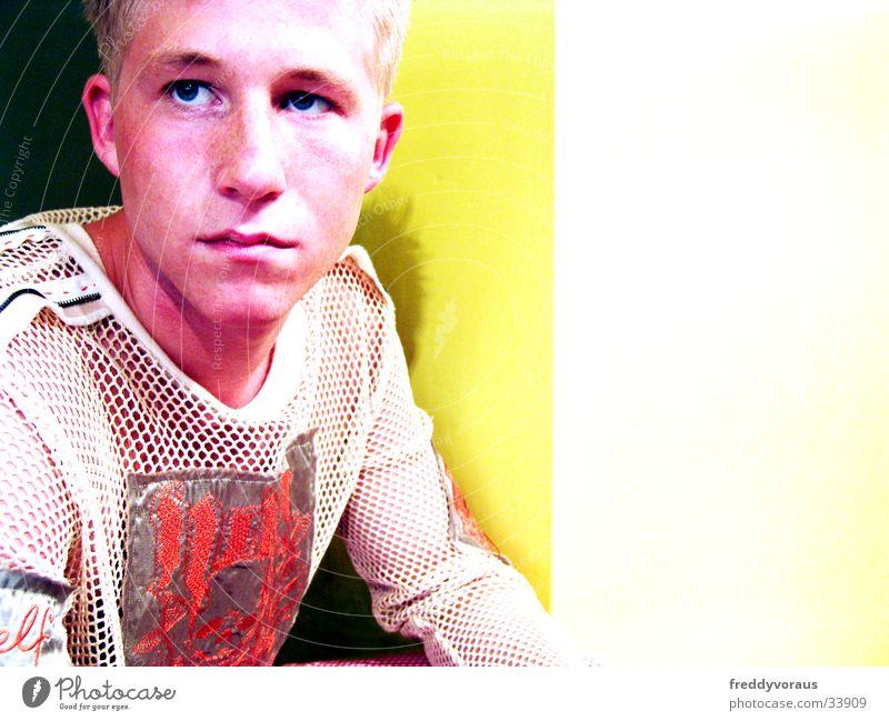 bobble*4 Mann Gesicht gelb T-Shirt Mensch