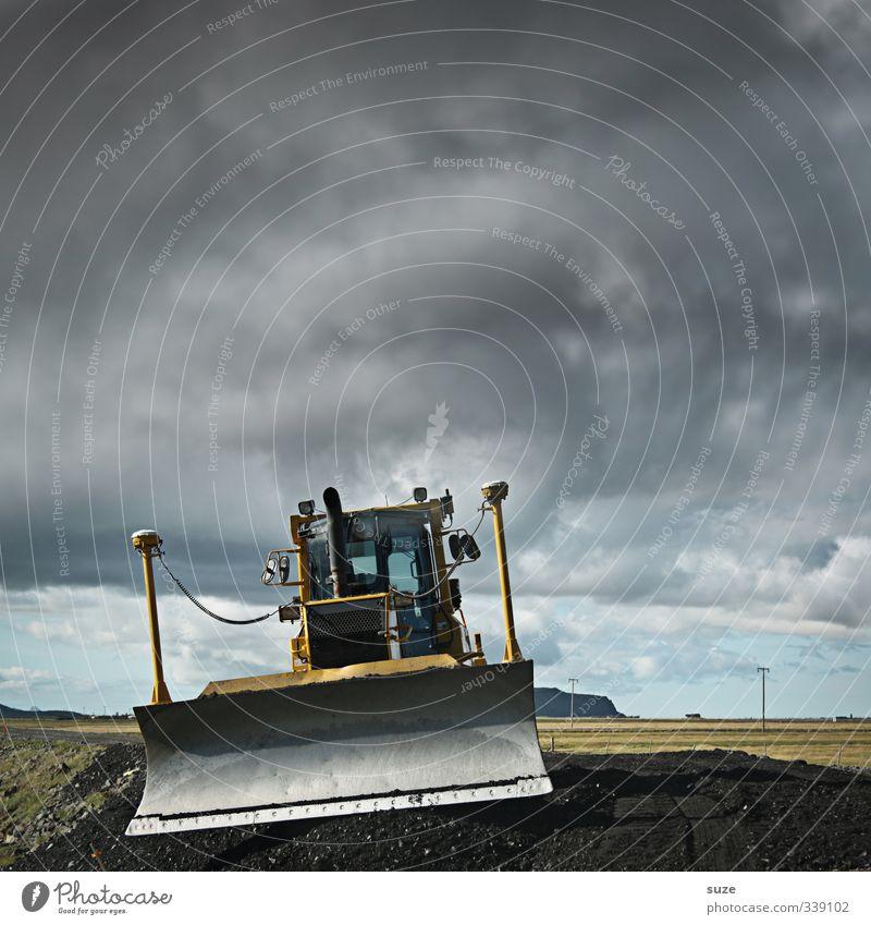 Die kleine Raupe nimmersatt Arbeit & Erwerbstätigkeit Arbeitsplatz Baustelle Industrie Dienstleistungsgewerbe Mittelstand Umwelt Urelemente Erde Himmel Wolken