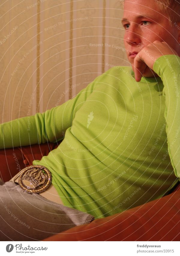 Bobble Mann grün Tapete Pullover Schnalle