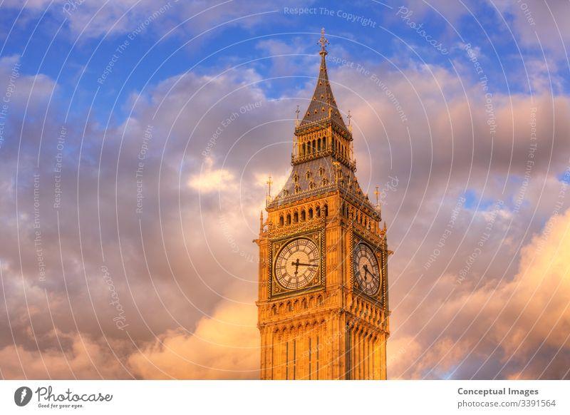 Nahaufnahme des Ziffernblatts von Big Ben, London, England. Architektur Anziehungskraft ben groß Brücke britannien Briten Gebäude Kapital Großstadt Stadtbild