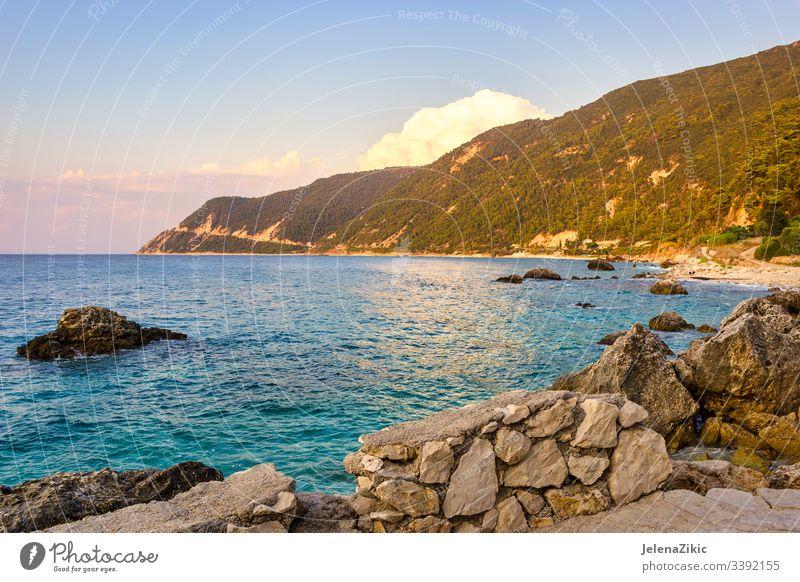 Das Dorf Agios Nikitas auf der Insel Lefkada MEER Urlaub Wasser atemberaubend Griechenland schön lefkada Fischen malerisch ruhig touristisch