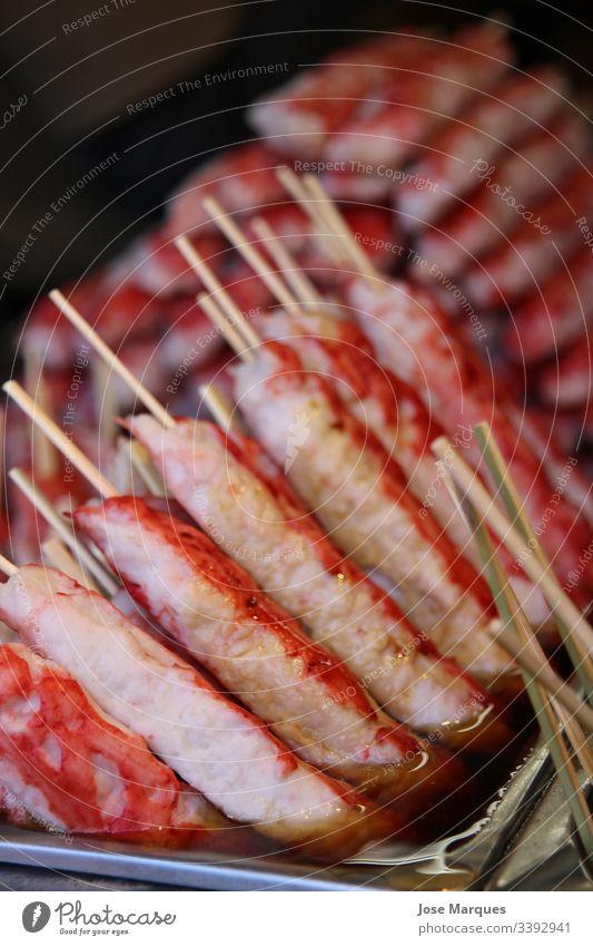 Straßenessen Farbfoto Lebensmittel lecker Fastfood Snack Ernährung Japan frisch