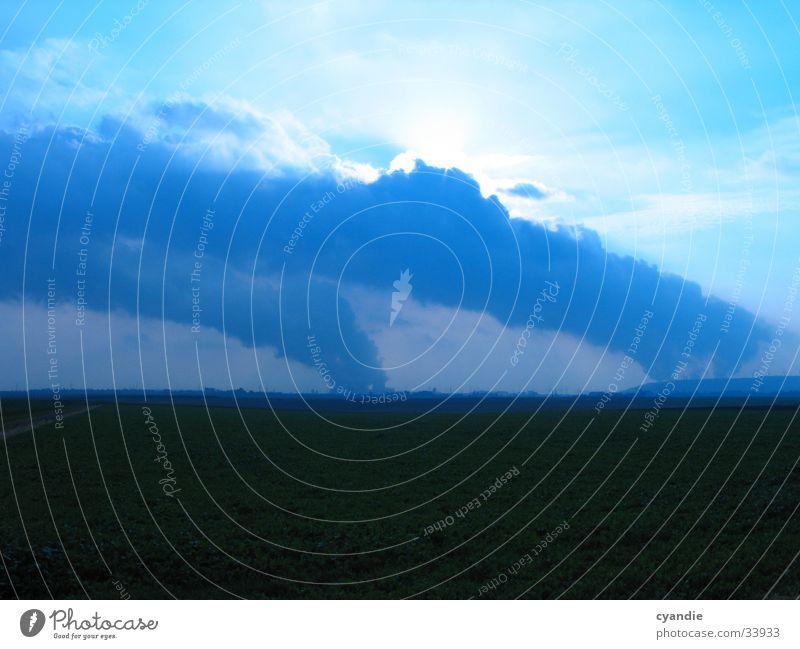 Umweltverseuchung Himmel Sonne Wolken Landschaft Feld Umweltverschmutzung