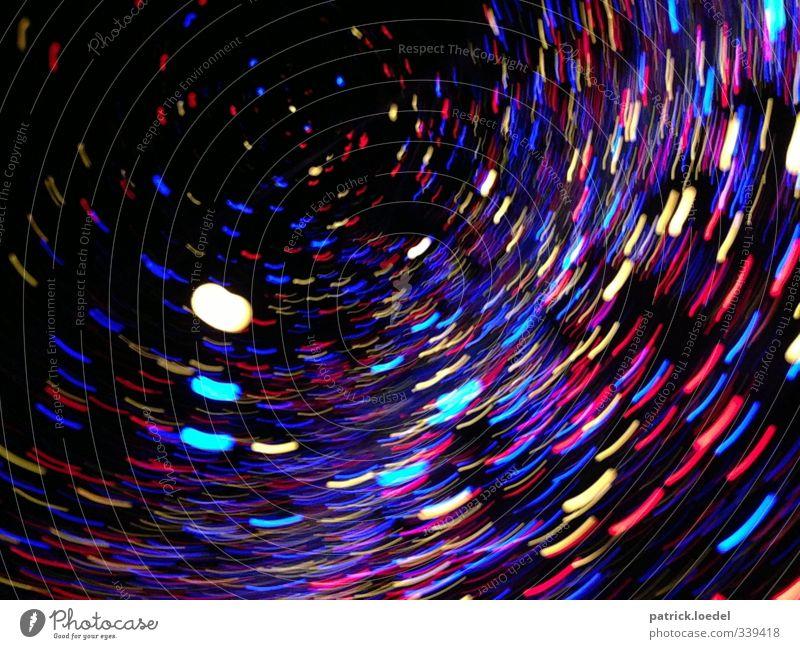 Tunnel of Light blau schwarz Geschwindigkeit Fotografie ästhetisch Lichtstrahl Verwirbelung Feste & Feiern Muster