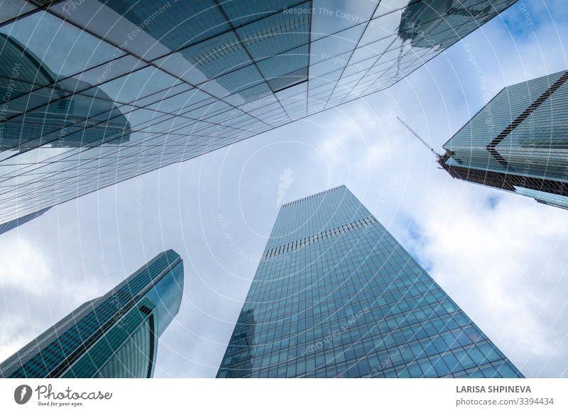 Spiegelhochhäuser von modernen Bürogebäuden Geschäftszentrum der Stadt Moskau, internationales Geschäftszentrum, Moskau, Russland moskau stadt urban Großstadt