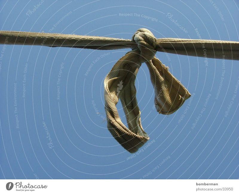 der knoten Himmel blau Seil Schnur Schleife Knoten Fototechnik