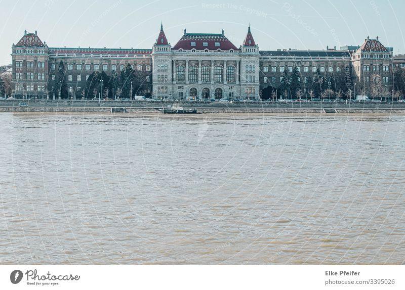 Universität Donau Danube Fluss Sehenswürdigkeit Hauptstadt Bauwerk historisch Ungarn Außenaufnahme Ferien & Urlaub & Reisen Architektur Städtereise Sightseeing
