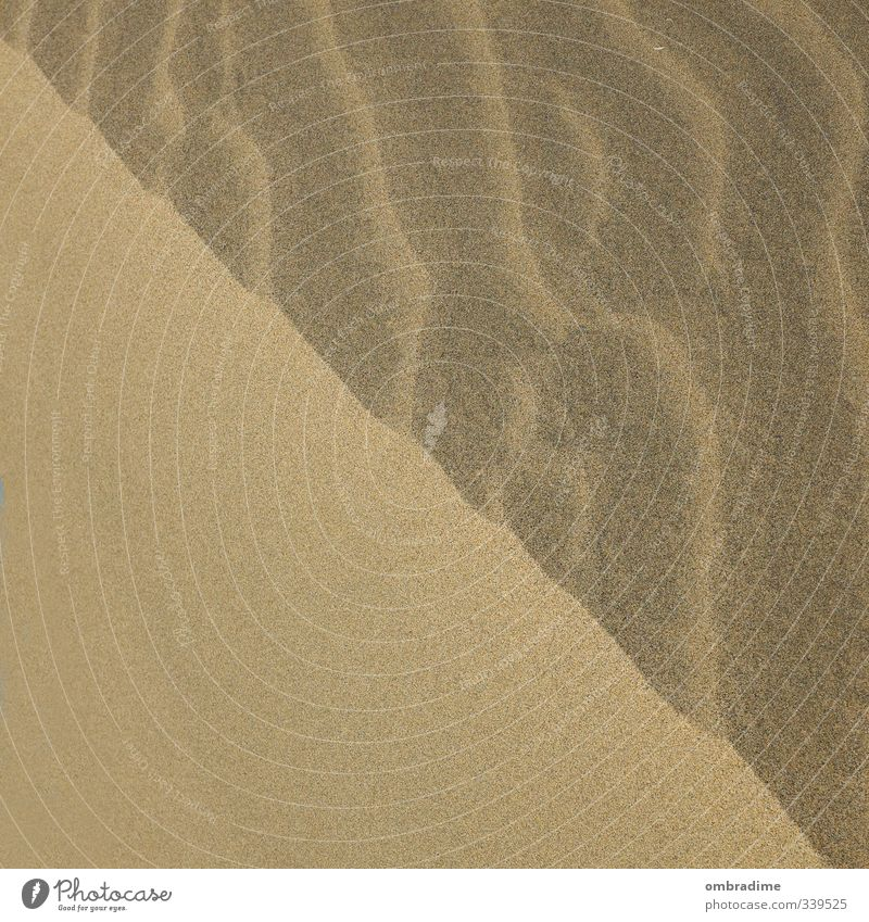 Natur-Belichtungskorrektur Umwelt Landschaft Sand Dürre Küste Strand Insel Gran Canaria eckig natürlich Grenze Schattenspiel Schattenseite Sonnenseite Farbfoto