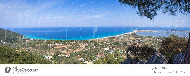 Strand Agios Ioannis auf der Insel Lefkada Landschaft blau im Freien Meereslandschaft Natur übersichtlich schön Himmel malerisch Panorama Hintergrund MEER