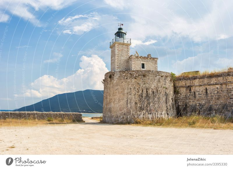 Schloss Agia Mavra (Santa Maura) in Lefkas Festung Burg oder Schloss Licht historisch Architektur Himmel Ferien & Urlaub & Reisen Landschaft Gebäude